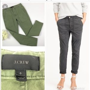 J. Crew slim twill fatigue pant size 6